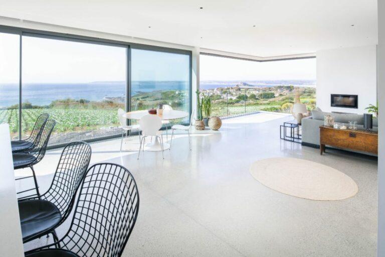Incredible Cornish self-build with corner opening sliding doors