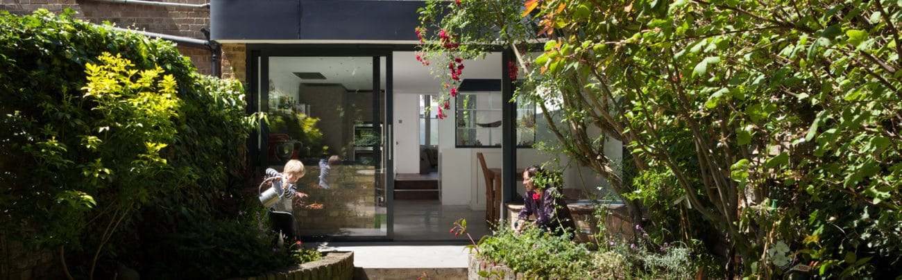 Photo showing a bifold door by IDSystems