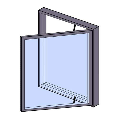 Image showing a side hung window