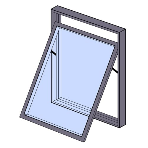 Image showing a top hung window