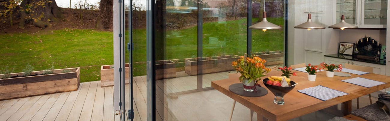 Photo showing an IDSystems door with incredibly slim sight-lines