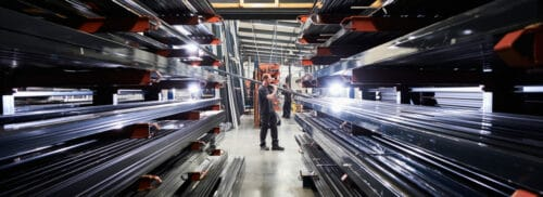 Photo showing inside of IDSystems factory in Norfolk