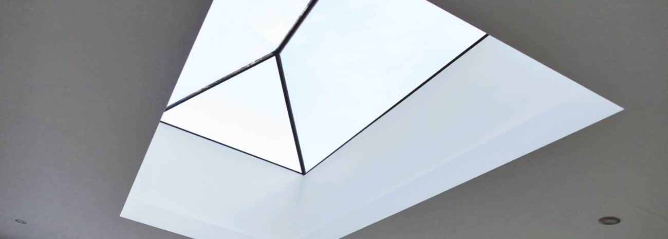 Photos shows an IDSystems lantern roof-light