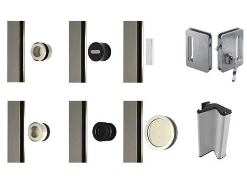 Photo showing handle options for the SF20 Sliding Door