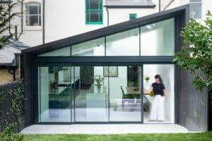 Part gable end glazing