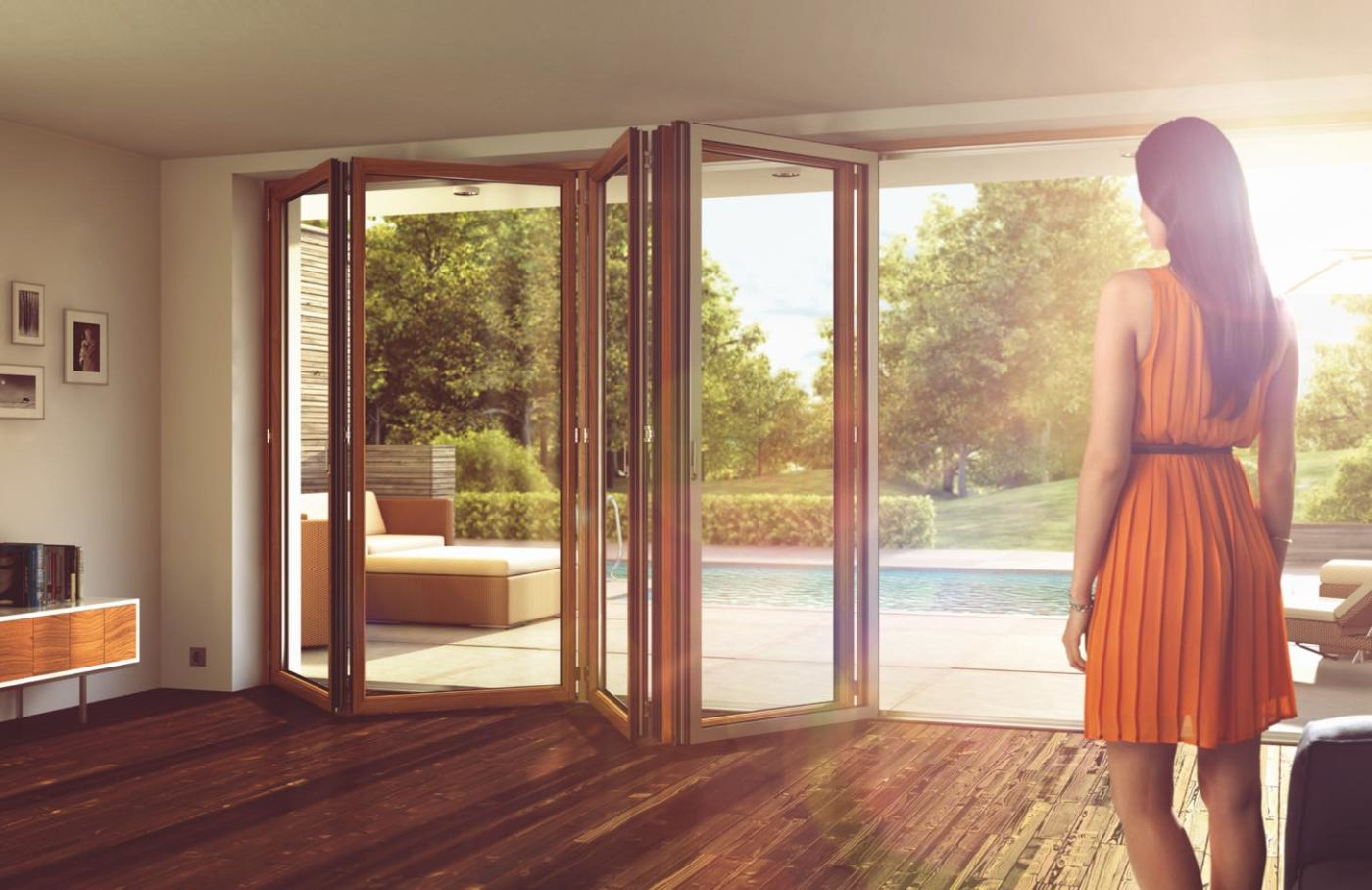 Composite bifold door photo