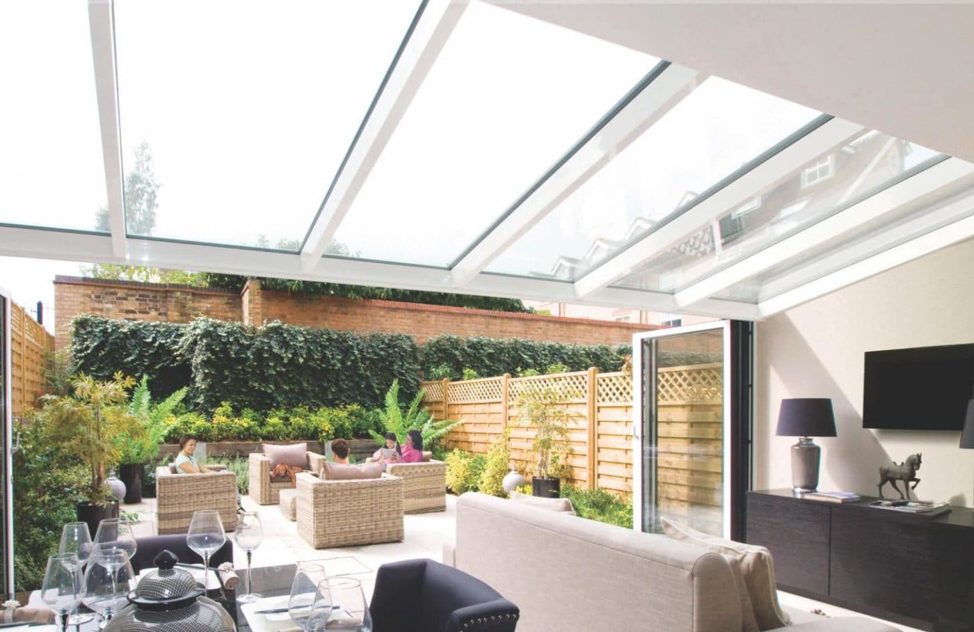 Photo showing a structural roof installation by IDSystems
