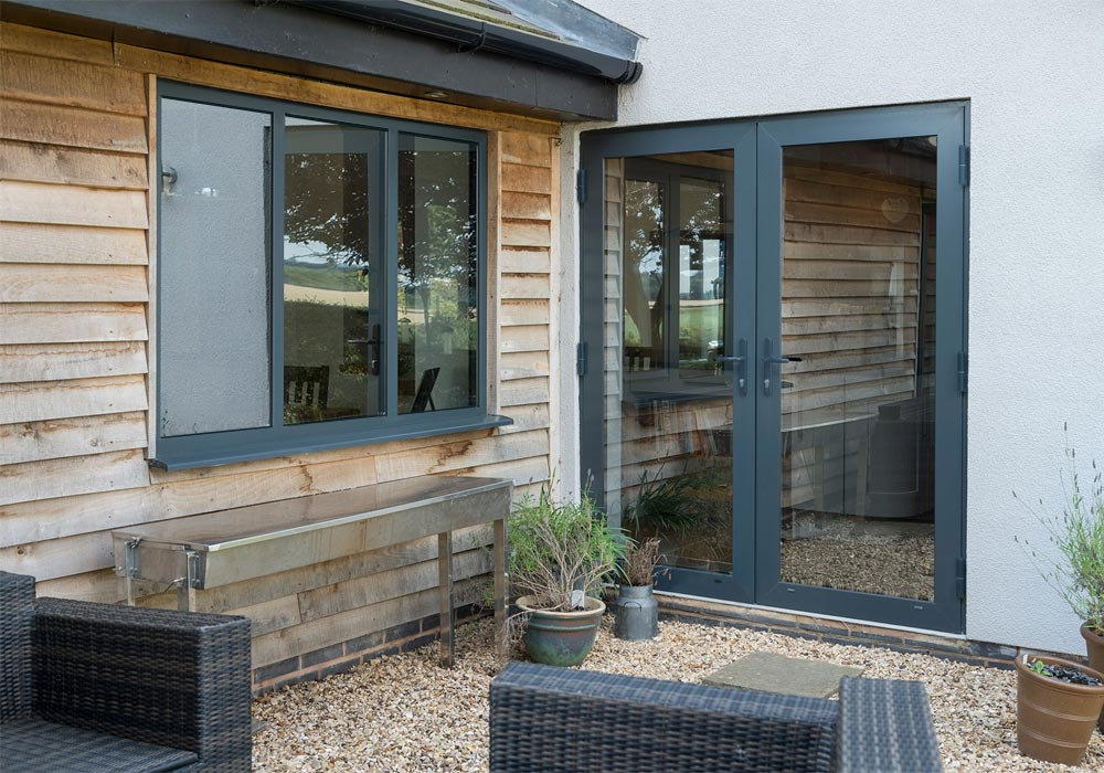 Patio doors - Patio French doors and window