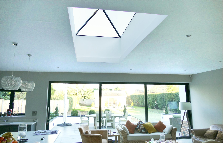 Frameless glass roof lanterns