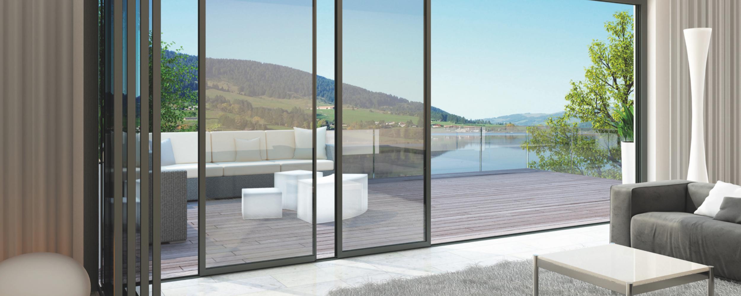 vistaline Slide and Turn door with panels open