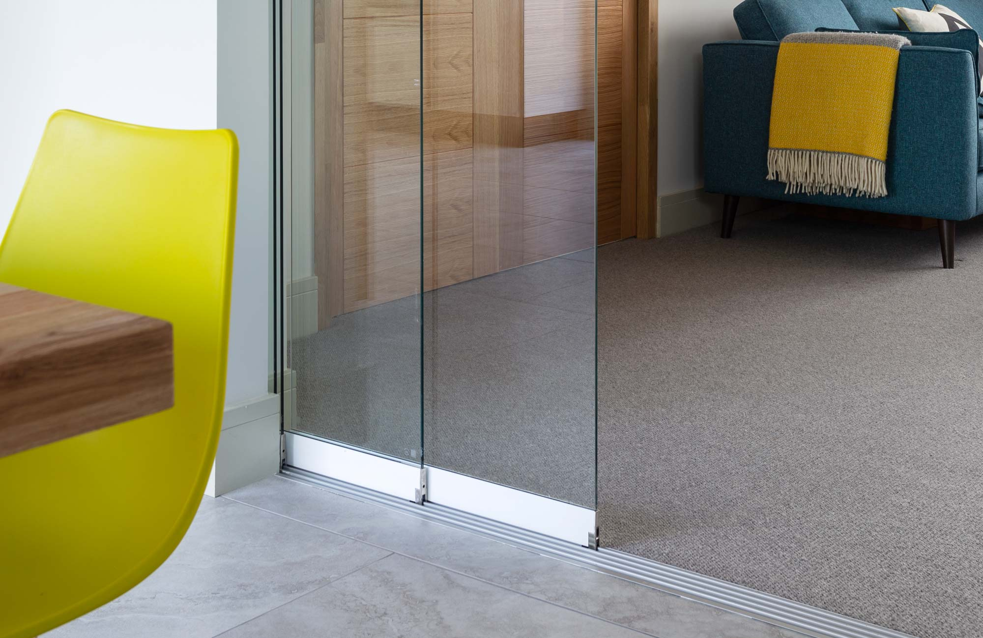 Internal glass partitions and sliding doors