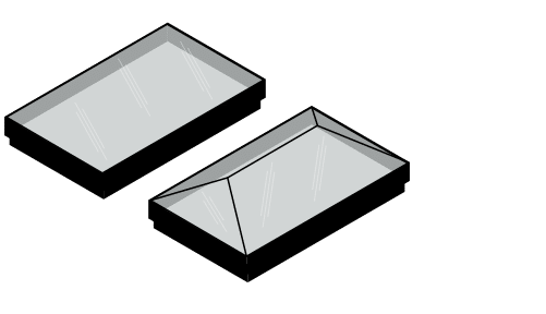 IDSystems glass roofs lights and glass lanterns illustration