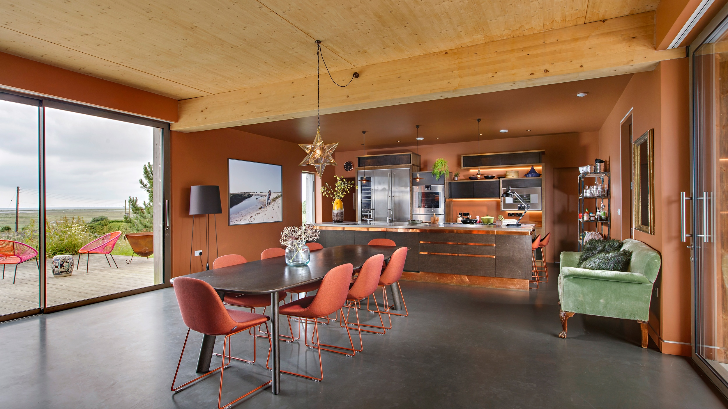 The stylish kitchen at Bliss Blakeney