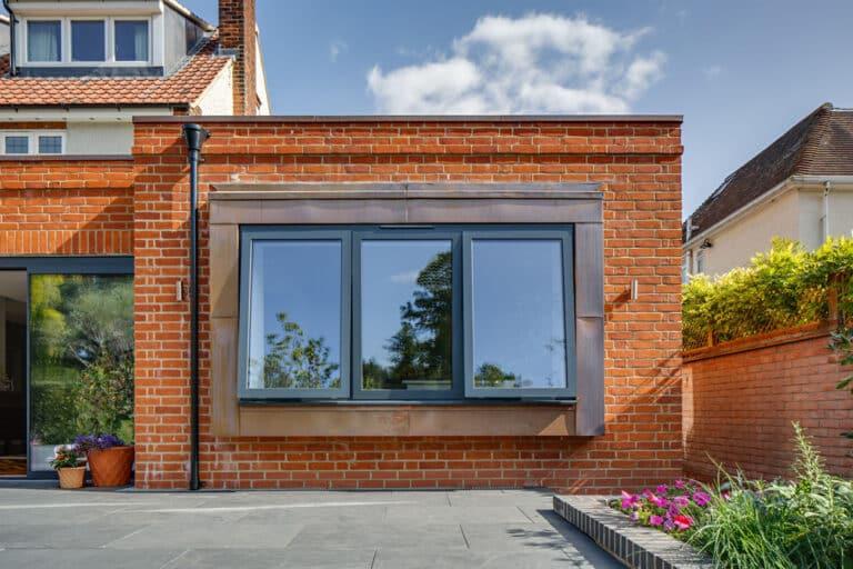 Large open plan kitchen extension aluminium windows