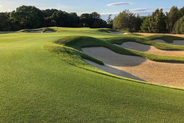 The 14th hole at Royal Norwich Golf Club