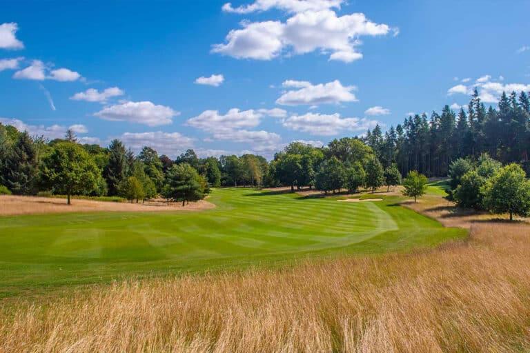 The 8th hole at Royal Norwich Golf Club