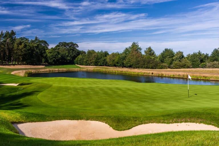 The 17th hole at Royal Norwich Golf Club