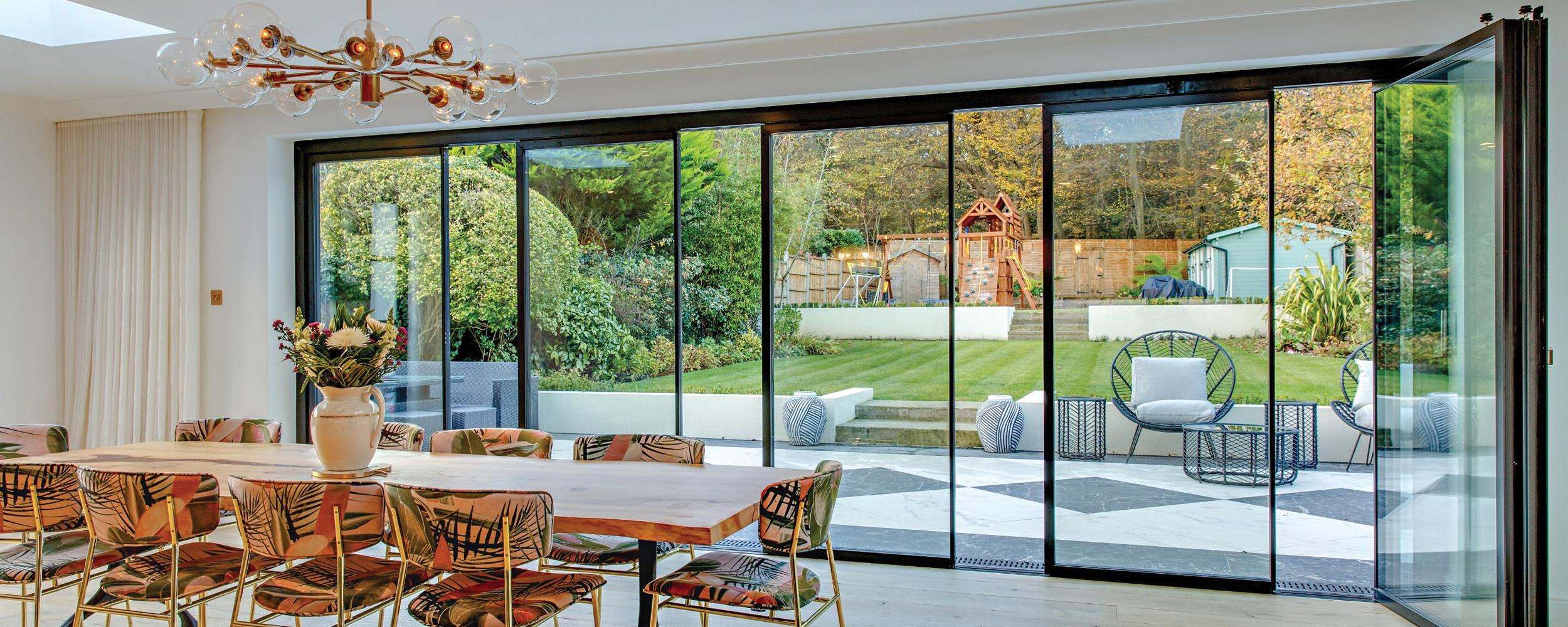 6-panel vistaline slide and turn doors