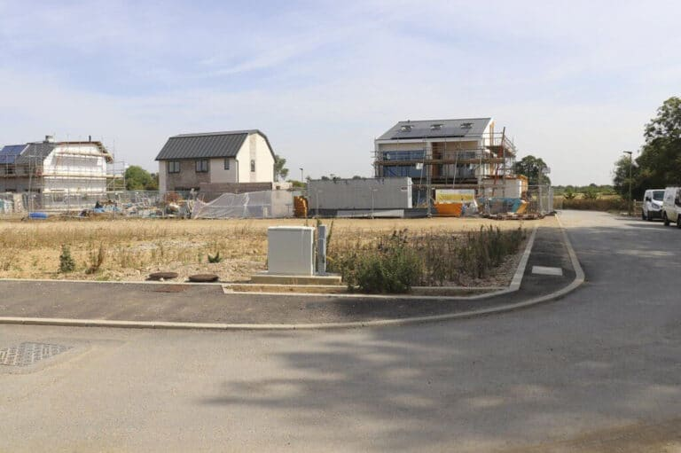 The plot on which the Build it Selfbuild Education House at Graven Hill in Bicester was built