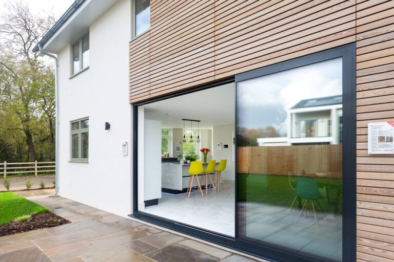 Sliding doors at Build it Selfbuild Education House at Graven Hill in Bicester