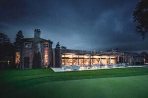 IDSystems theEDGE2.0 sliding doors - Huge 16m wide set of sliding doors at The Royal Norwich Golf Club