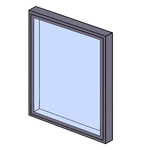 Fixed frame window