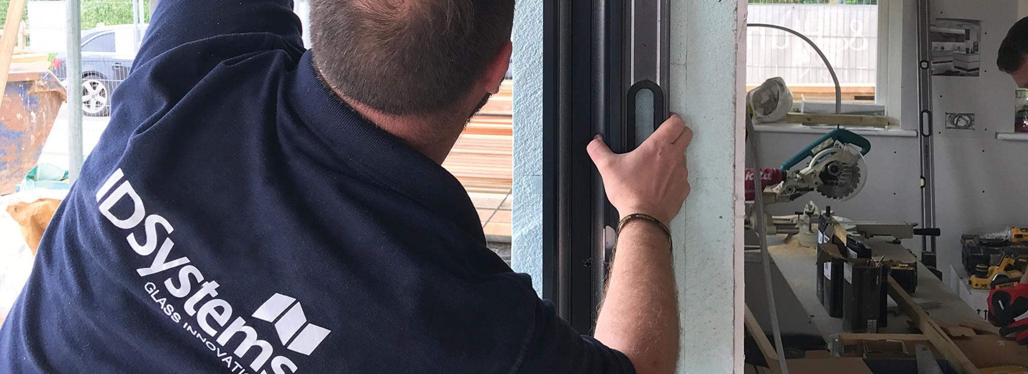 Installation of sliding doors at Graven Hill