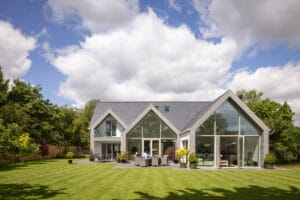 IDSystems Thermo65 French doors within glass curtain walling