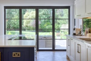 IDSystems Heritage French doors with dummy door sidelights
