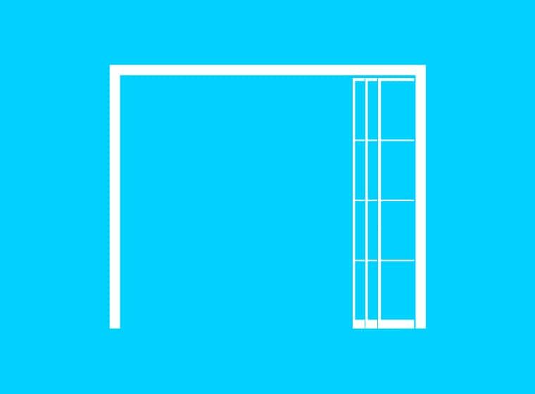 Pocket sliding door icon